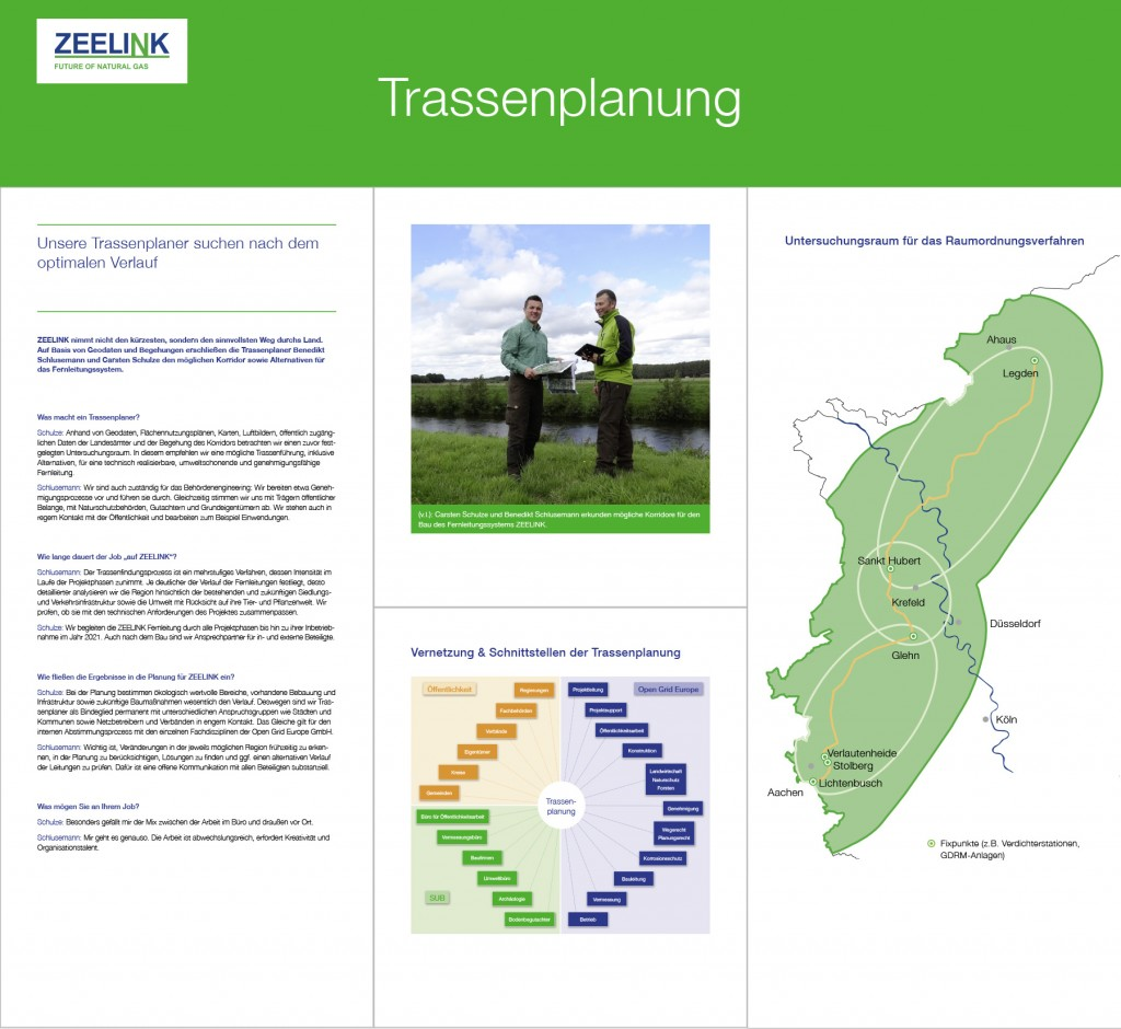 Themeninsel Trassenplanung